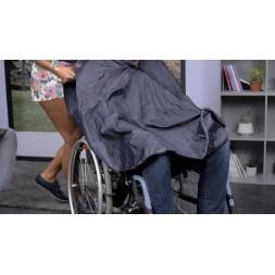 Ponczo - ochraniacz przeciwdeszczowy do wózka inwalidzkiego