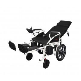 Elektryczny wózek inwalidzki z regulowanym oparciem i podnóżkami AT52304