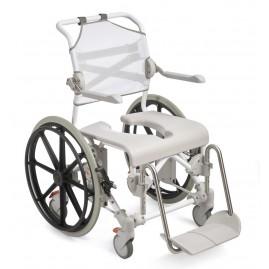 """Etac Swift Mobile - wózek toaletowo-prysznicowy z 24"""" kołami tylnymi do 160 kg"""