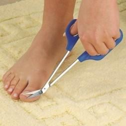 Nożyczki do paznokci u stóp z długą rączką dla seniora